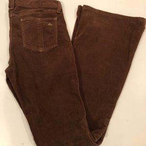 Rag & Bone brown corduroy flare jeans